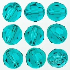 Eureka Crystal Beads - BLUE ZIRCON