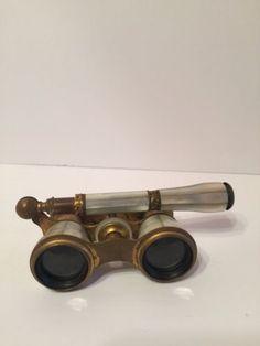 Arredamento D'antiquariato Occhiali, Monocoli E Lenti Antique Vintage Opera Binoculars Binocolo Mother Of Pearl Madreperla Argento