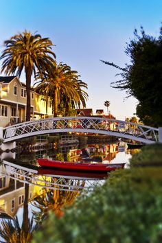 East Canal in Venice, California | Venice Canal Sunrise by David Doucot