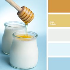 Honey, white, blue and their shades – a palette that is universal in its…
