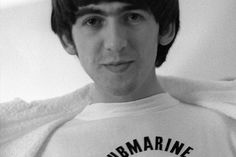 "amoralto: "" George Harrison shows off his Murray the K shirt in Miami, Florida, photographed by Ringo Starr. (February 14th?, 1964) - There's George, wearing one of Murray the K's T-shirts. Murray the..."