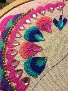 Embroidery Machine On Sale. Simple Embroidery Designs For Blouse Sleeves within Embroidery Designs Mexican Embroidery, Learn Embroidery, Silk Ribbon Embroidery, Vintage Embroidery, Embroidery Thread, Embroidery Patterns, Machine Embroidery, Embroidery Tattoo, Simple Embroidery Designs