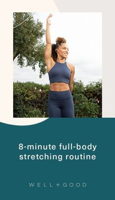 stretches Full Body Stretching Routine, Stretch Routine, Body Stretches, Stretching Exercises, Quad Stretch, Side Lunges, Downward Dog, Hip Ups, Muscle Tension