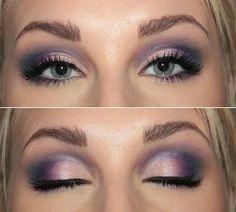 purple make up wedding (client request)