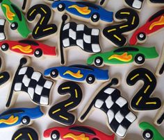 Matchbox race car birthday cookies