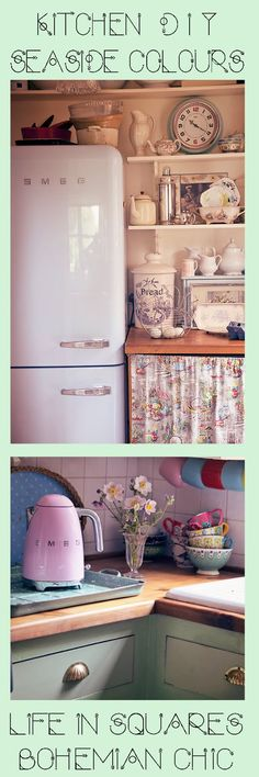 ♡ this fridge. Would finish my kitchen beautifully. Might need to treat myself Using Chalk Paint, Annie Sloan, Kitchen Ideas, Personal Style, Kitchen Cabinets, Colours, Interior, Life, Home Decor