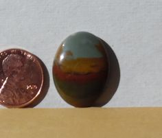 Handmade Rocky Butte Picture Jasper Cabochon (Oregon) 18mm x 25mm Oval #250-1036 by acreatorstouch on Etsy