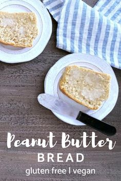 an easy #glutenfree #vegan peanut butter bread recipe! learn how to make depression era bread, with tasty additions and substitutions.