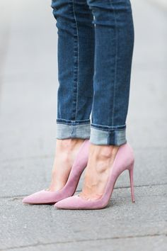 Pink Heel + Jean