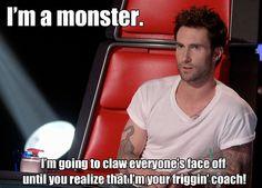 Adam's getting feisty! #TeamAdam #VoicePremiere