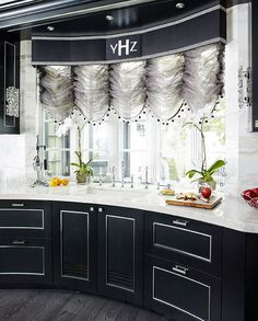 Dazzling Kosher Kitchen Remodel - Traditional Home® Love the cabinets and marble on the curve