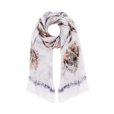 Alexander McQueen shell skull scarf on sale at Cocosa