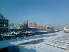 Gdansk motlawa winter ice