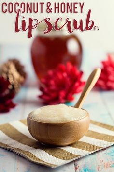 Save your cash and pamper your lips at home with this amazing DIY Coconut & Honey Lip Scrub! Your lips will thank you!