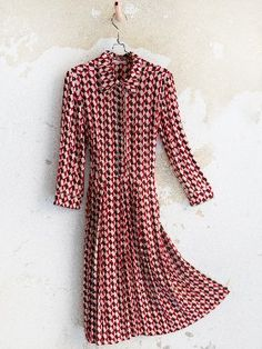 Wait and See presents Long Sleeve Printed Dress by Just in Case!
