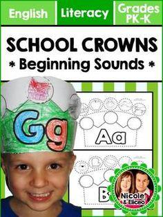 SALE ALERT! Alphabet Crowns for Letter Sounds
