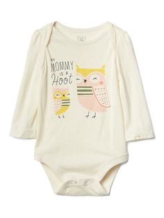 Gap Baby Forest Family Long-Sleeve Bodysuit Mom