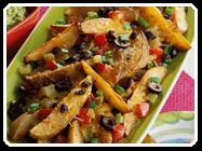Potato Nachos - Potatoes offer the flavor of nachos without the concern about gluten in the chips. Just make sure that all ingredients used are gluten-free (specific ones of concern are noted). Gluten Free Recipes, New Recipes, Favorite Recipes, Potato Nachos, Healthy Potato Recipes, Dinner Sides, Appetizer Recipes, Appetizers, Weight Watchers Meals