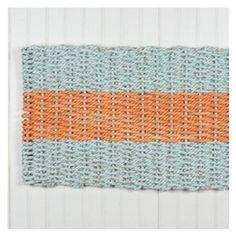 Maine Float-Rope Doormat Aqua-Orange