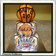 Lakers & Thunder Basketball Cake