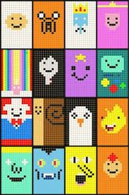 Afbeeldingsresultaat voor adventure time pixel graph