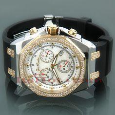 Joe Rodeo Panama Mens Diamond Watch 2.15ct Yellow Gold