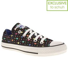 Women's Black Converse All Star Ox Iii Hearts at schuh