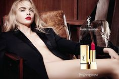 Celebrity Model, Cara Delevingne Strips voor Sexy nieuwe YSL Beauty Campaign…