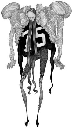 Freaky High-Fashion Illustrations