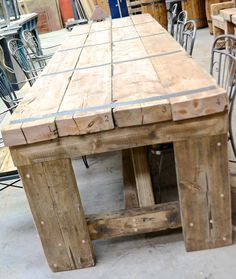 Elegant Handmade Large Harvest Table By Red Springs Lumber | CustomMade.com | Shop  Builds | Pinterest | Beams