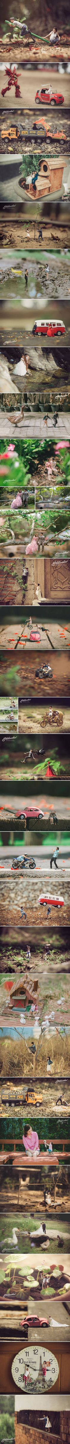 Miniature photography - this wedding photographer turns couples into miniature people ekkachai saelow Photography Lessons, Photoshop Photography, Toys Photography, Macro Photography, Creative Photography, Wedding Photography, Photoshop Tips, Photoshop Tutorial, Photografy Art