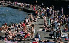 Locals flock to the beaches when temperatures soar in Dublin