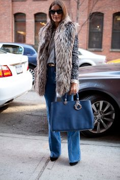 gorgeous look; amazing dior bag and fab coat (hope its fake fur!)