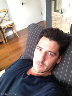 Jonathan Knight's photo: Post haircut nap........Zzzzzzzz gonna be a few days before I know what to do with myself!
