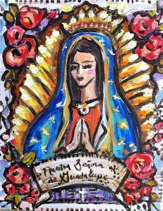 Our Lady of Guadalupe Signed Artist Print by recycledwoodart