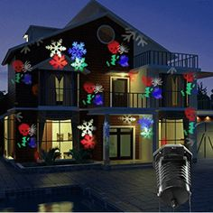 """HOT PRICES FROM ALI - Buy """"Tanbaby Christmas Laser Projector Lights 10 Replaceable Patterns Outdoor Decorations Party Halloween Patio Stage Lights"""" from category """"Sports & Entertainment"""" for only USD. Best Christmas Laser Lights, Outdoor Christmas Projector, Outdoor Light Projector, Christmas Light Projector, Icicle Christmas Lights, String Lights Outdoor, Led Projector, Christmas Holiday, Led Stage Lights"""