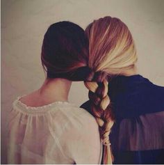 Best friends hair braided together! Would LOVE to have a picture like this some day! (: