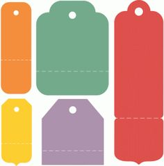 Silhouette Design Store - View Design #81531: perforated gift tag set