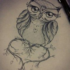 owl drawing stands for wisdom and beauty, vivid eye girl long eyelashes . - owl drawing stands for wisdom and beauty, vivid eye girl long eyelashes - Bild Tattoos, Body Art Tattoos, New Tattoos, Tattoo Drawings, Sleeve Tattoos, Owl Drawings, Heart Tattoos, Tattoo Outline Drawing, Owl Tattoo Design
