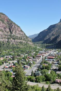 Ouray, Colorado. Such a cute little town with great waterfalls just a short walk away!