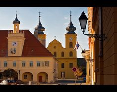 Osijek - historical baroque style city centre - Croatia