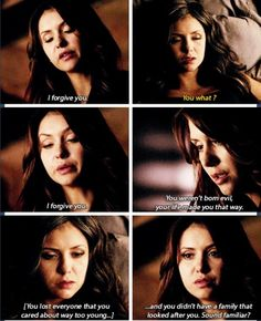 Katherine & Elena have a moment....but then that is ruined!!! Didn't c that coming!!!