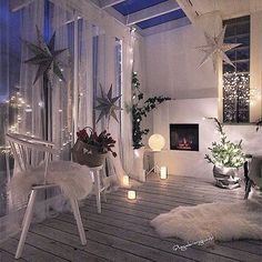 Decoração natalina - All About Balcony Interior Design Living Room, Living Room Decor, Bedroom Decor, Living Spaces, Home And Deco, Dream Rooms, My New Room, House Rooms, Home And Living