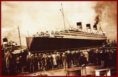 1936 The Queen Mary Sails from Clydebank Glasgow.