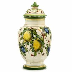 Decorative Storage Boxes, Italian Pottery, China Porcelain, Jewellery Storage, Canisters, Earthenware, Old World, Italy, Colors