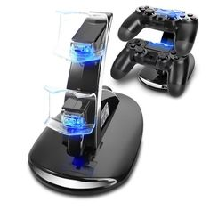 Dual Controller Holder Charger 2 USB Handle Fast Charging Dock Station Stand Charger for PS4 Controller