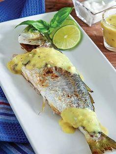 Hardal soslu lüfer ızgara Tarifi - Türk Mutfağı Yemekleri - Yemek Tarifleri