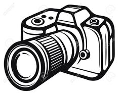 Camera clipart black and white free clipart | Cricut cut ...