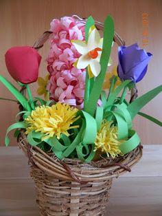 Idei Fermecate: cosulete cu flori de primavara din hartie