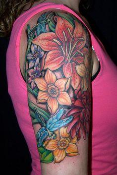 floral collage tattoo by maliareynolds, via Flickr